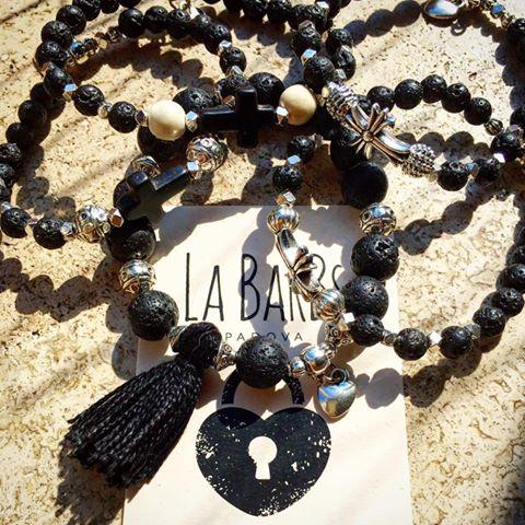 Strech Braceles Pietra Lavica .... #labarbs #padova #BBigiotteria #bigiotteria #fattoamano #handmade #instafashion